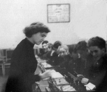 Krystyna Radzikowska w Moskwie 1956r.