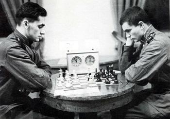 Leonid Sztejn po lewej