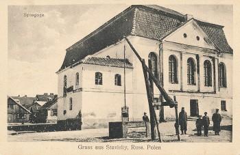 Stawiski 1915 Synagoga
